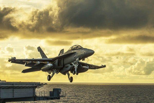Jet Aircraft Takeoff Aircraft Carrier