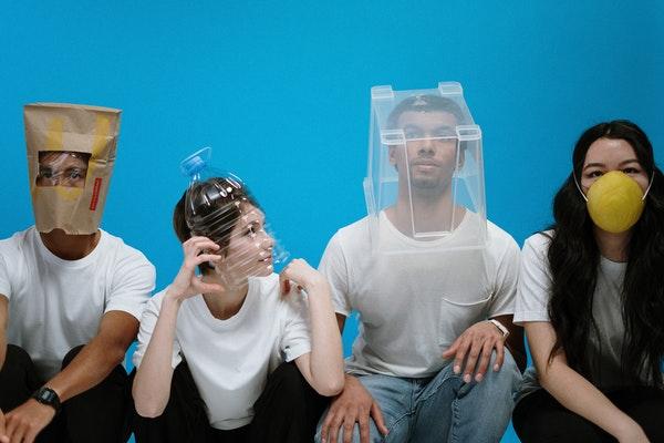 People Wearing Diy Masks Covid 19