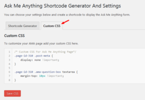 Custom CSS Tab In Ask Me Anything