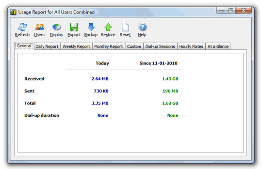 NetWorx - Free Bandwidth Monitor