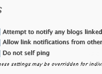 No Self Pings