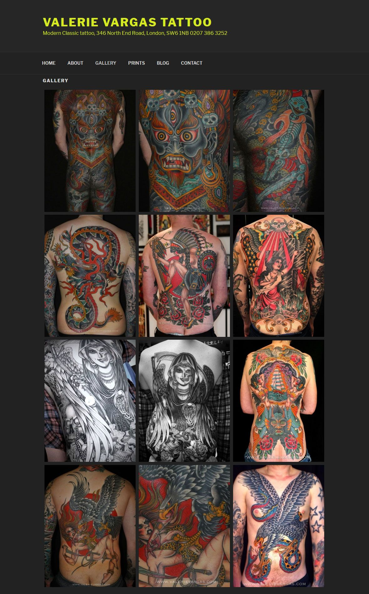 ValerieVargas.com Full Width Gallery Page