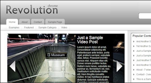 Revolution Chrome ( Click Image for a Live Demo )