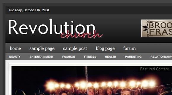 Revolution Church ( Click Image for a Live Demo )