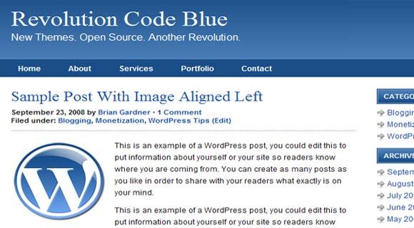 Revolution Code Blue ( Click Image for a Live Demo )