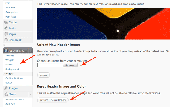 Custom Headers in WordPress 3.0