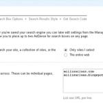 Google Custom Search Engine Options