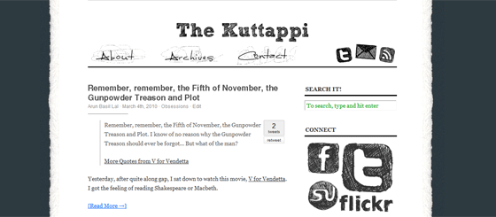 Customized Theme on Kuttappi.com