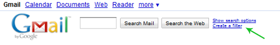 Create a Filter Link near the Search Box