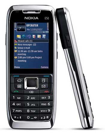 Nokia E51 SmartPhone with Metallic Cover
