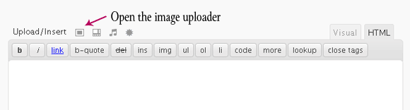Open the Image Uploader