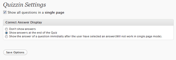 Quizzin Settings - Click For Full View
