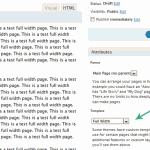 Select Full Width Template in Editor
