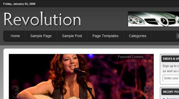 Revolution Streamline ( Click Image for a Live Demo )