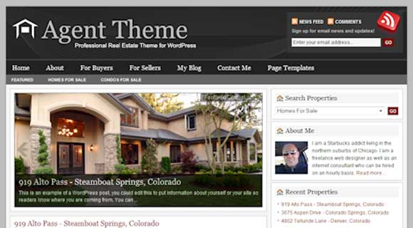 StudioPress Agent WordPress Theme