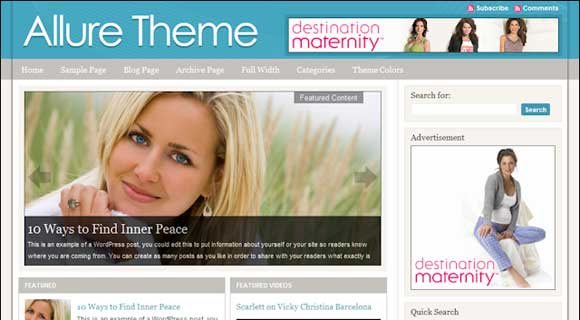 StudioPress Allure WordPress Theme