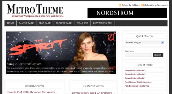 StudioPress Metro WordPress Theme