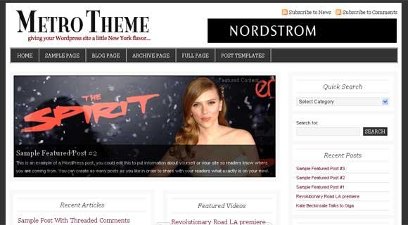 StudioPress Metro WordPress Theme