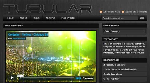 StudioPress Tubular WordPress Theme - Black