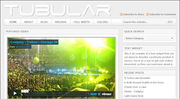 StudioPress Tubular WordPress Theme - Light