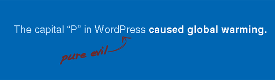 WordPress Capital P Dangit