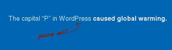 WordPress Capital P Dangit