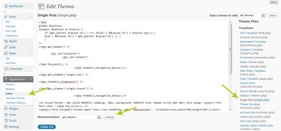 WordPress Theme Functions Lookup